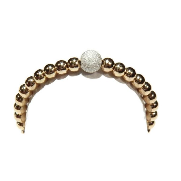 Flexring 2mm with 3 mm silver dusted bead gold filled | Gnoes