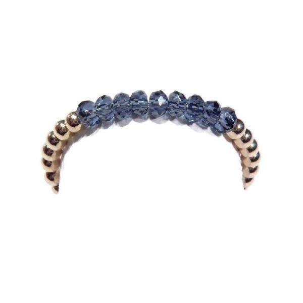 Flexring Blue Kristal gold filled 2mm | Gnoes