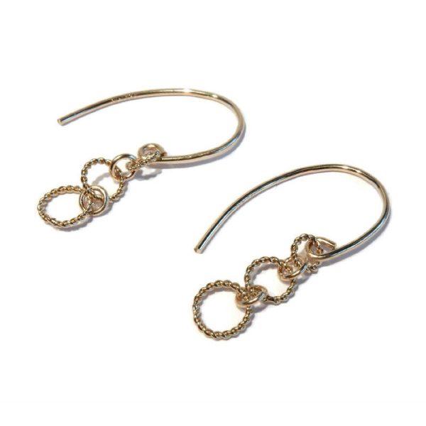 Oorringen gold filled twisted rings | Gnoes