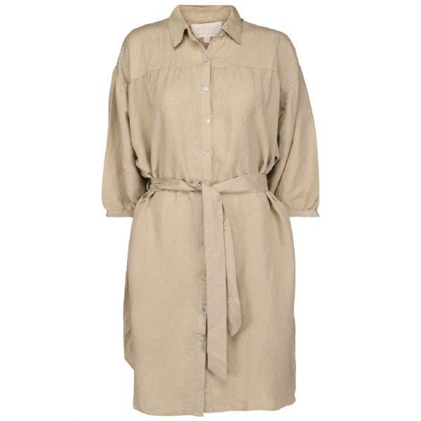 Makira linen dress nomad sand | Minus