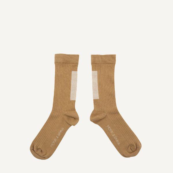 Wheat + Milk graphic Socks | Monk&Anna