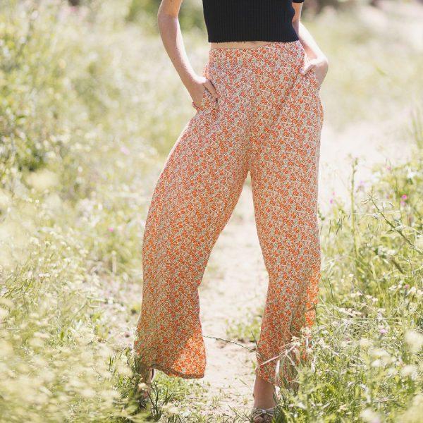 Valencia Pant Liberty Orange | Poppy Field