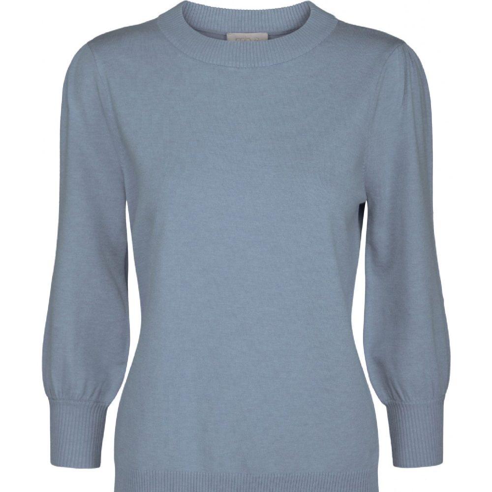 Mersin knit tee Dusty Blue Melange   Minus