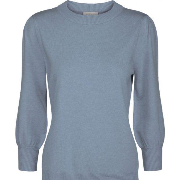 Mersin knit tee Dusty Blue Melange | Minus