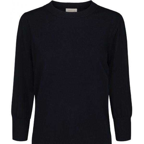 Mersin knit tee Black Iris Solid | Minus