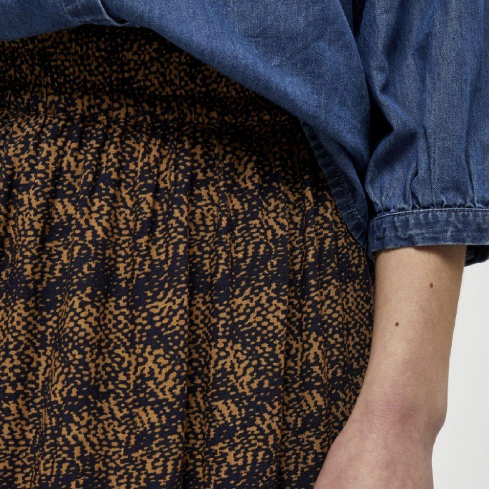 Alberte Skirt Burned Hazel Dot Print | Minus