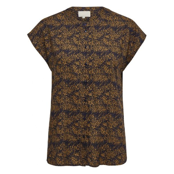 Alberte Shirt Burned Hazel Dot Print | Minus