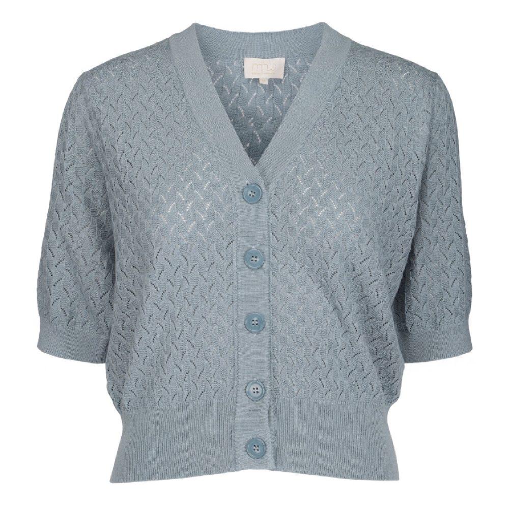 Aisa knit cardigan Misty Blue| Minus