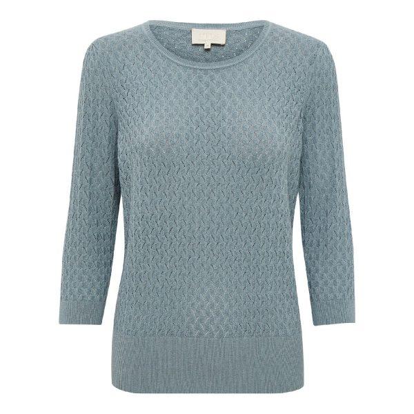Aisa knit pullover Misty Blue | Minus