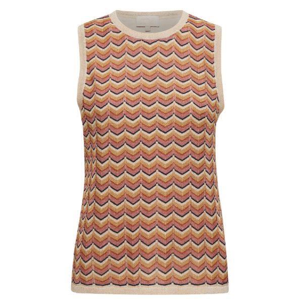 Luana knit top Old Rose Stripes | Minus
