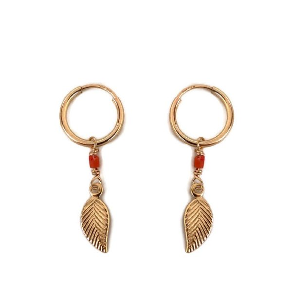 Earrings gold filled Feather   Radijs