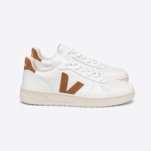 V-10 Leather Extra White/Camel | VEJA