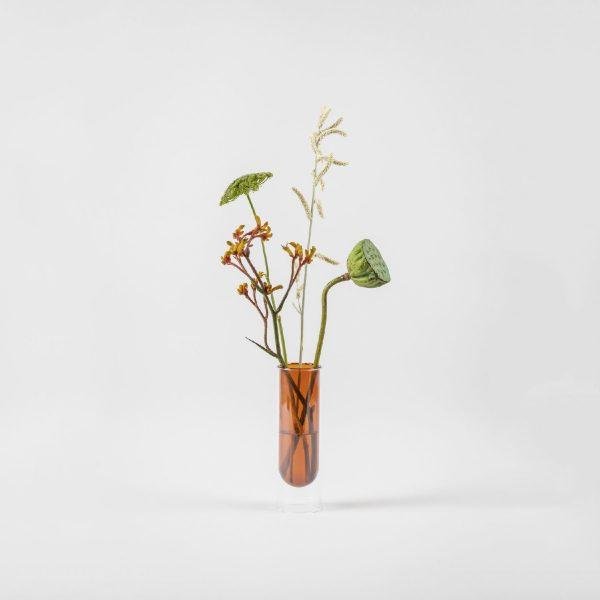 Flower Tube, Tall Tube, Amber | Studio About