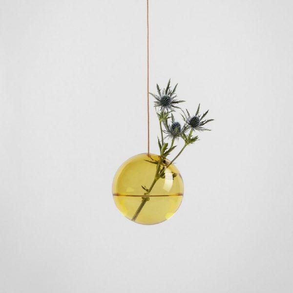 Hanging Flower Bubble Medium Yellow | Studio About