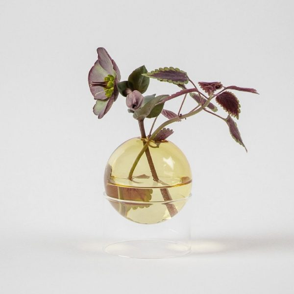 Standing Flower Bubble Low Tube Yellow | Studio About