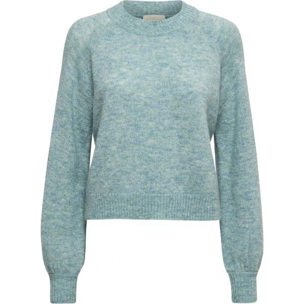 Rosia Knit Pullover Misty Blue Melange | Minus