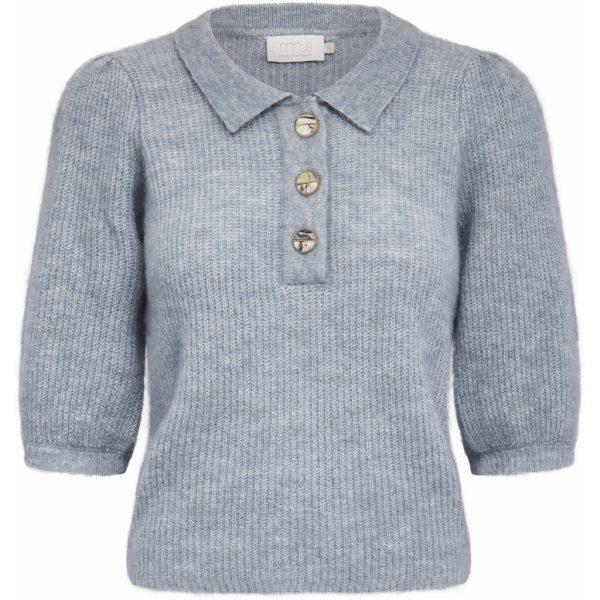 Mille Knit Tee Misty Blue Melange | Minus