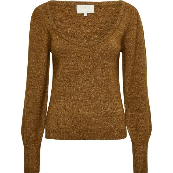 Mille Knit Pullover Rustic Brown Melange | Minus