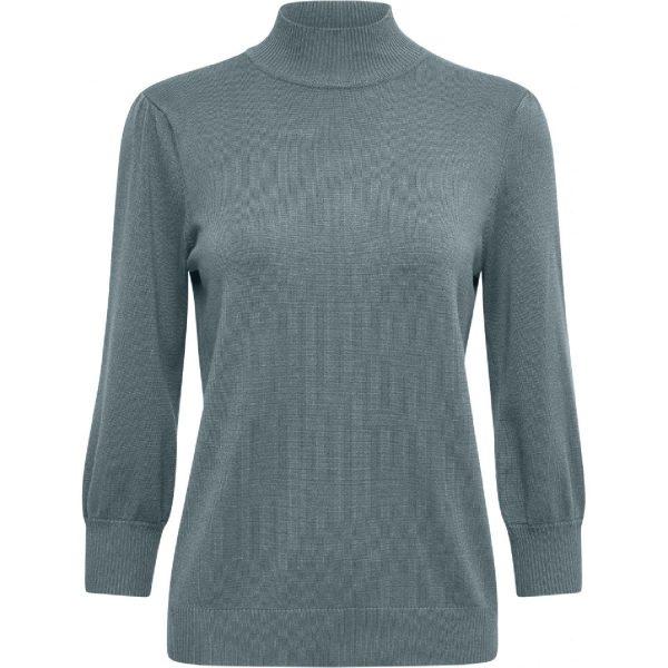 Mersin Roll Neck Knit Blue Zen Melange | Minus